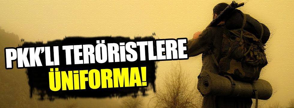 PKK'lı teröristlere üniforma!