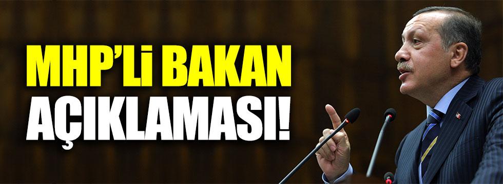 Erdoğan'dan 'MHP'li bakan' açıklaması