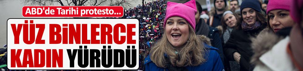 Trump'ı protesto için yürüdüler