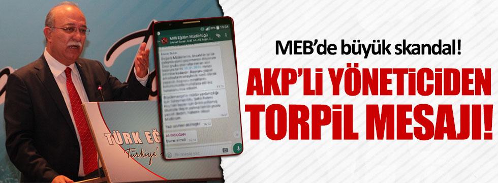 MEB'de AKP'li Başkandan torpil skandalı
