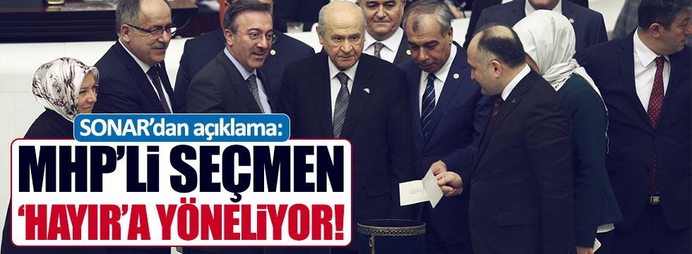 Ünlü araştırma şirketi: MHP seçmeni 'hayır'a yöneliyor