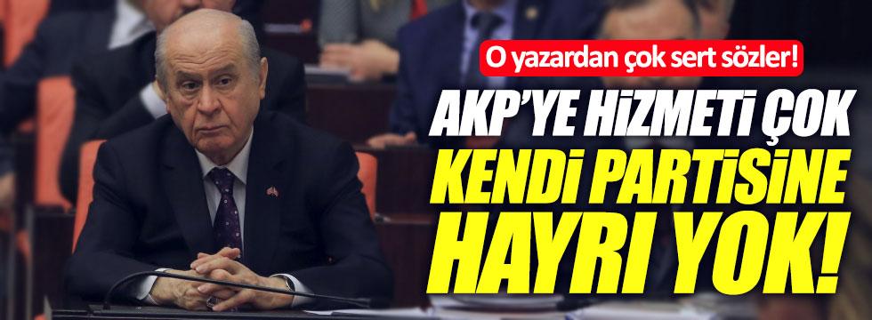 """Bahçeli'ye sert sözler: """"AKP'ye hizmeti çok, kendi partisine hayrı yok"""""""