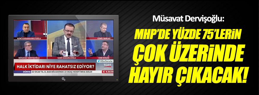 Müsavat Dervişoğlu: MHP'de yüzde 75'lerin çok üzerinde 'hayır' çıkacak