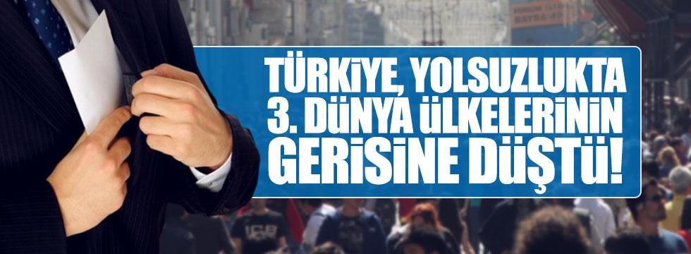 Türkiye, yolsuzlukta 3.dünya ülkelerinin gerisine düştü