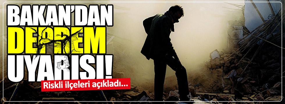Özhaseki İstanbul'daki riskli ilçeleri açıkladı