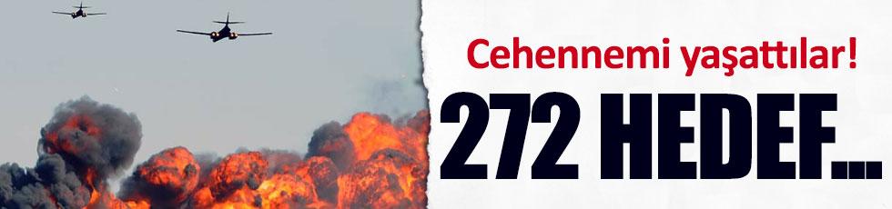 Suriye'de 272 hedef vuruldu