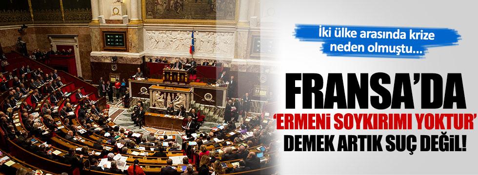 Fransa sözde 'soykırım yoktur' diyene ceza yasasını iptal etti