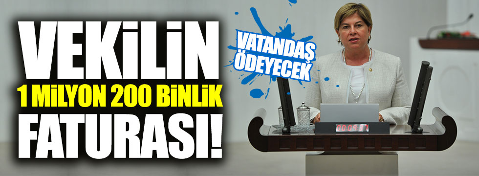 CHP'li vekilin 1 milyon 200 bin TL'lik faturası Meclis'i karıştırdı