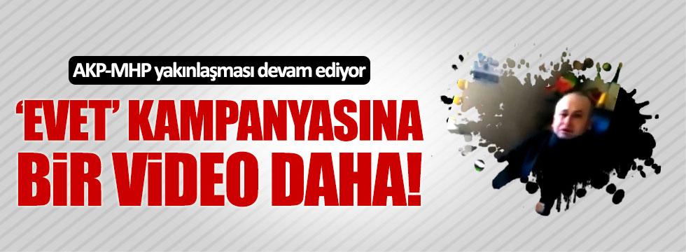 AKP'lilerin 'evet' kampanyasına MHP Şarkikaraağaç İlçe Başkanı'ndan destek