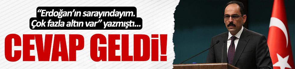 """""""Erdoğan'ın sarayında çok altın var"""" sözlerine cevap geldi"""