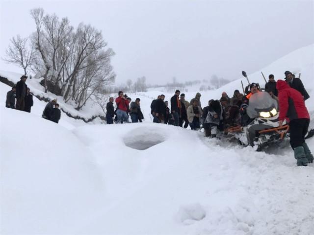 Bitlis'te çığ düştü
