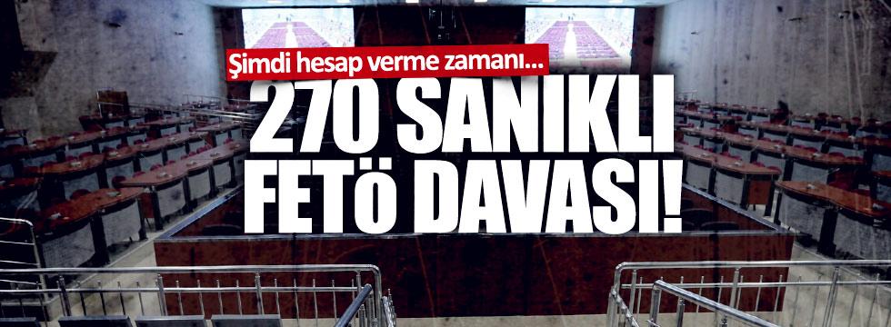 İzmir'deki, 270 sanıklı FETÖ davası başlıyor