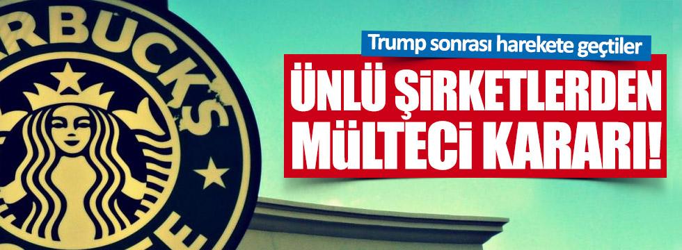 Ünlü şirketlerden Trump'a karşı mülteci hamlesi