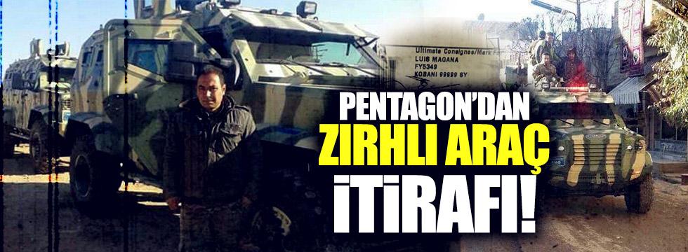 Pentagon'dan 'PYD/PKK'ya zırhlı araç' itirafı