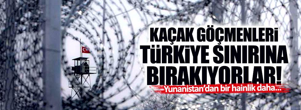 Yunanistan, kaçak göçmenleri Türkiye sınırına bıraktı