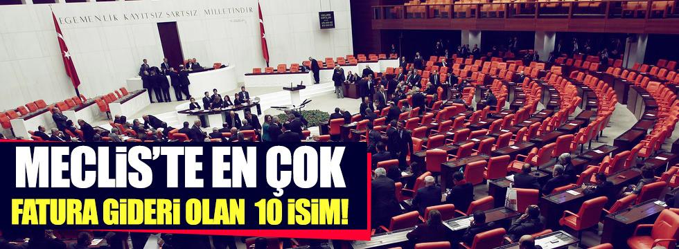Meclis'te en çok fatura gideri olan 10 vekil