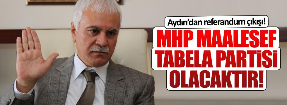 Koray Aydın: MHP maalesef tabela partisi olacaktır