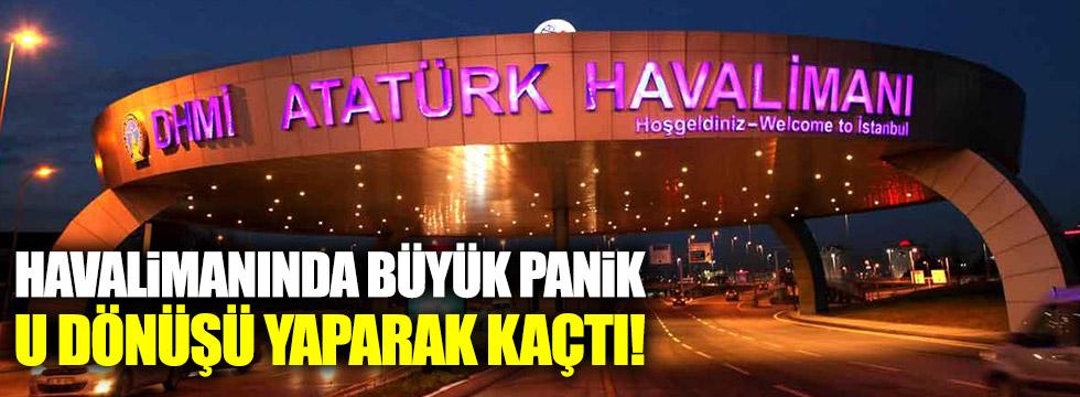 Atatürk Havalimanı girişinde şüpheli minibüs!