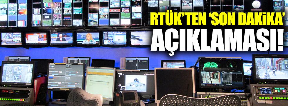 RTÜK'ten 'son dakika' açıklaması