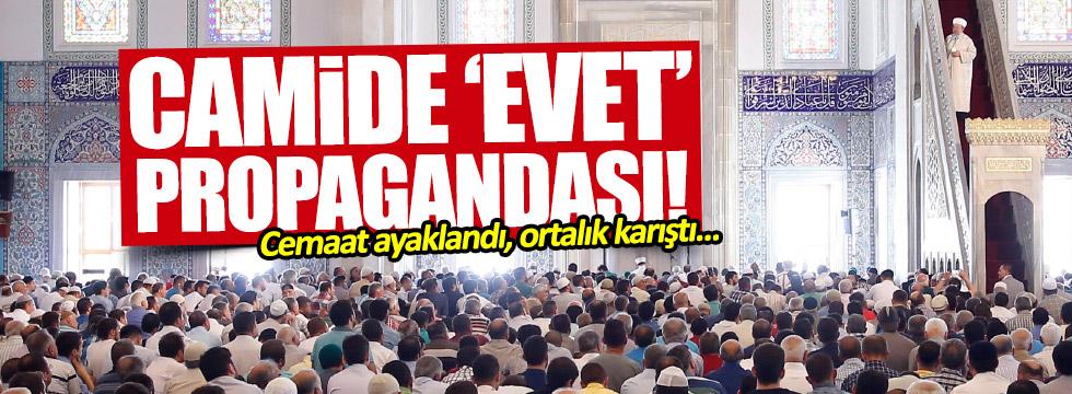 Camide 'Evet' propagandası