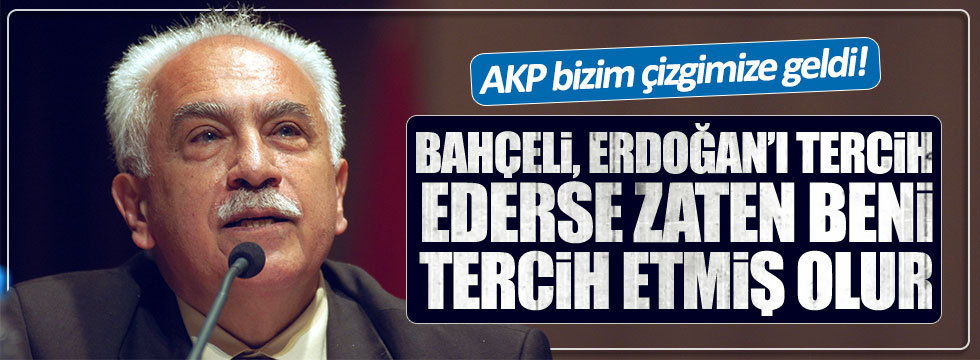 Perinçek'ten Bahçeli'ye cevap: AKP ile aynı çizgideyiz!