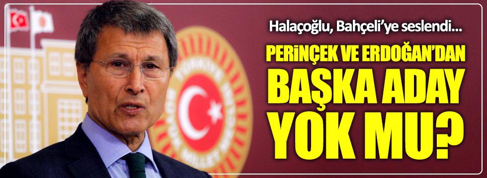 """Halaçoğlu: """"Perinçek ve Erdoğan'dan başka aday yok mu?"""""""