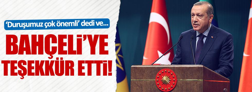 Erdoğan'dan Bahçeli'ye özel teşekkür