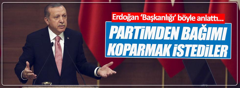 """Erdoğan """"Partimden bağımı koparmak istediler"""""""