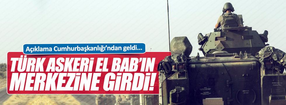 Türk askeri El Bab'ın merkezine girdi