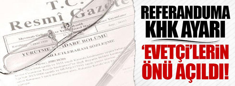 Referanduma KHK ayarı