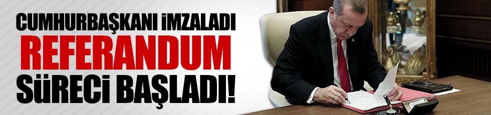 Erdoğan başkanlık anayasasını onayladı