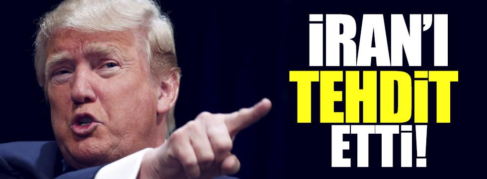 Trump İran'ı  tehdit etti!