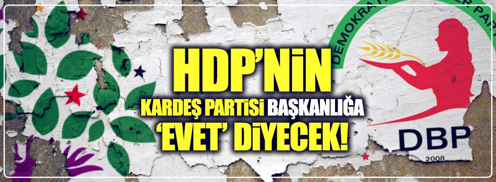 HDP'nin kardeş partisi başkanlığa 'evet' diyecek