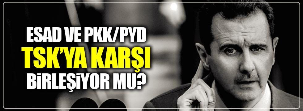 PYD/PKK ile Esed, TSK'ya karşı birleşiyor