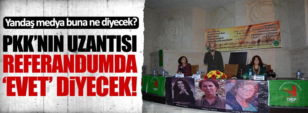 PKK'nın siyasi kolu DBP de referandumda 'evet' diyecek