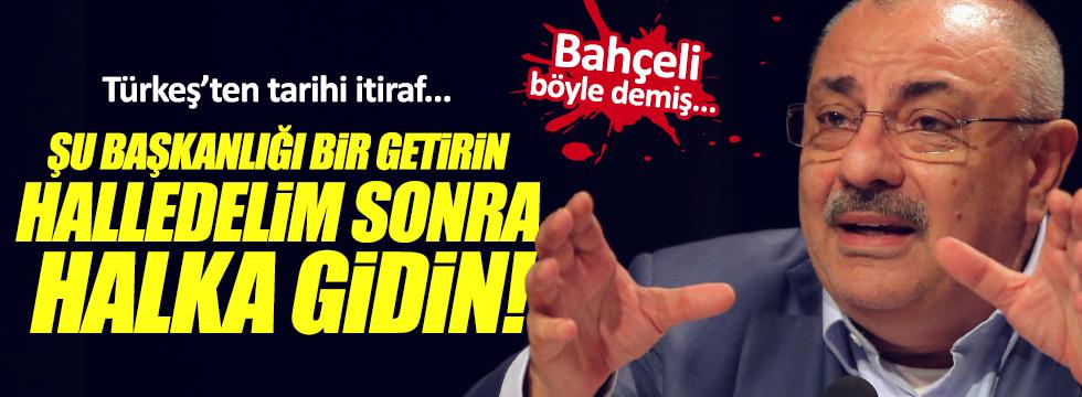 """Türkeş: """"Başkanlık gündemimizde yoktu, Bahçeli sayesinde geldi"""""""