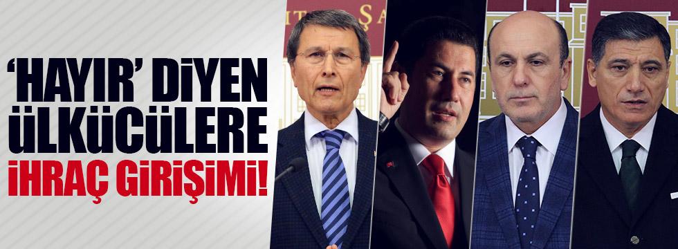MHP'li Halaçoğlu, Oğan, Okutan ve Ok'a ihraç talebi!