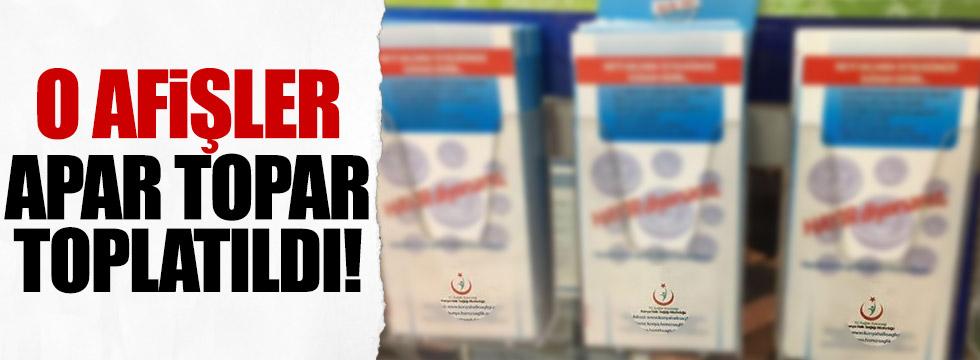 'Sigaraya Hayır' afişleri referanduma takıldı