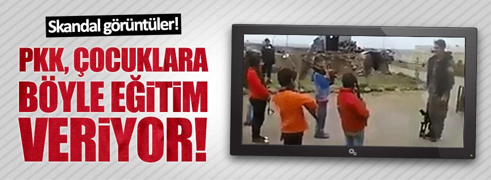 PKK'lı teröristler, çocukları böyle eğitiyor