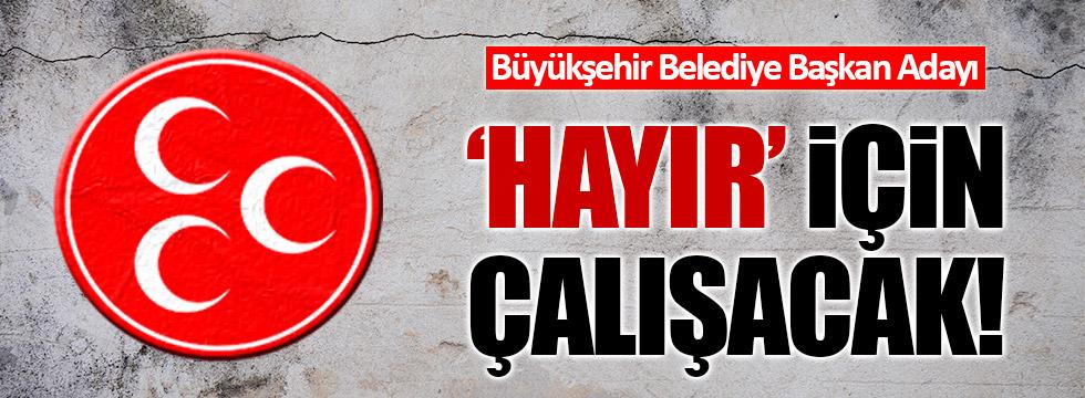MHP'li Murat Taşer: 'Hayır' için çalışacağım