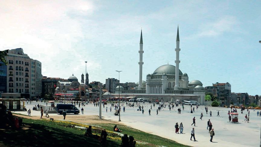 Taksim Camisi için ilk kazma vuruluyor