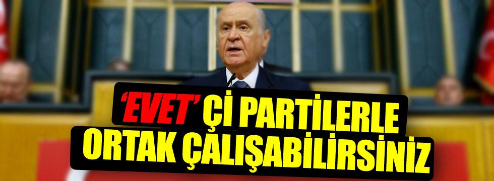 Bahçeli: AKP ile birlikte çalışacağız