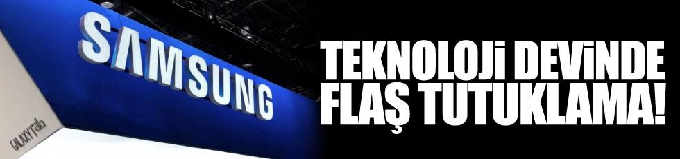 Teknoloji devi Samsung'da flaş tutuklama