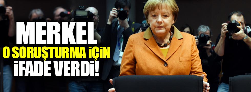 Merkel o soruşturmda ifade verdi