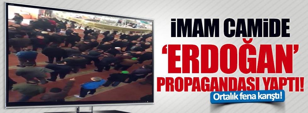 Gaziantep'te bir imam, camide Erdoğan propagandası yaptı