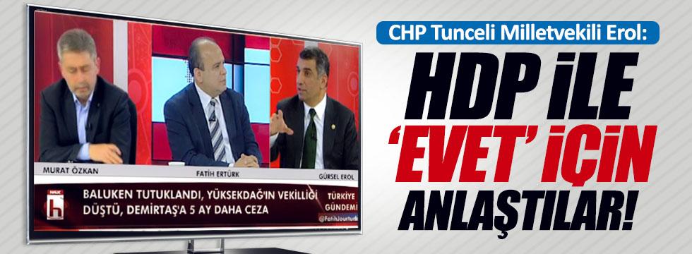 """HDP ile """"evet"""" için anlaştılar"""