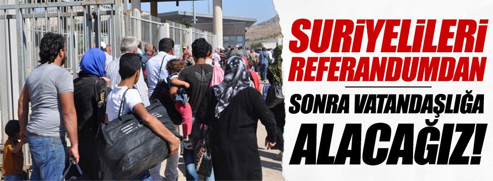 Hükümet'ten, Suriyelilere vatandaşlık açıklaması