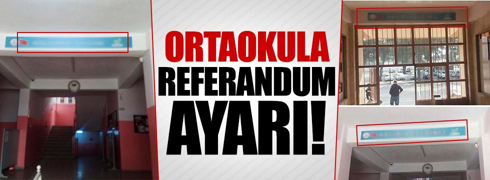 Referandum ayarı ortaokula indi