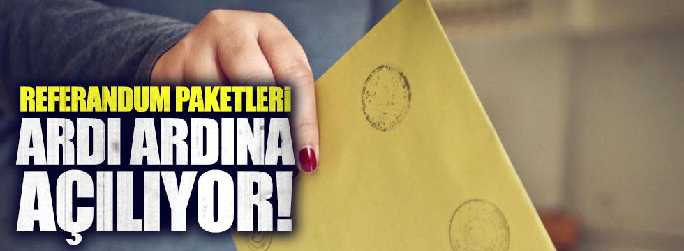 Regferandum paketleri ardı ardına açılıyor!
