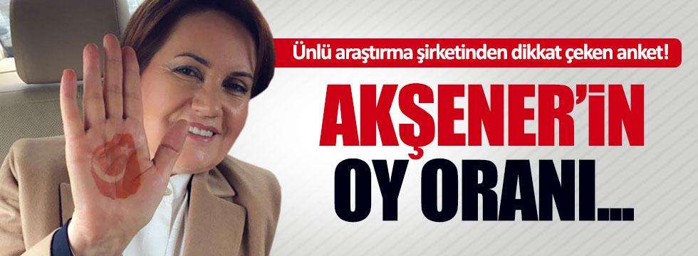 İşte Akşener'in oy oranı